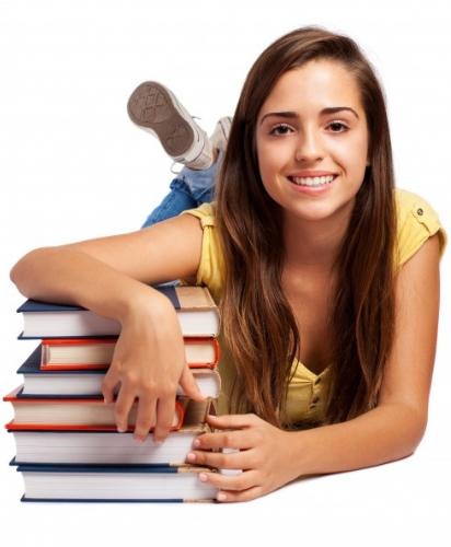 Chica Joven con Libros