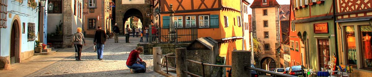 Banner con imagen de ciudad alemana