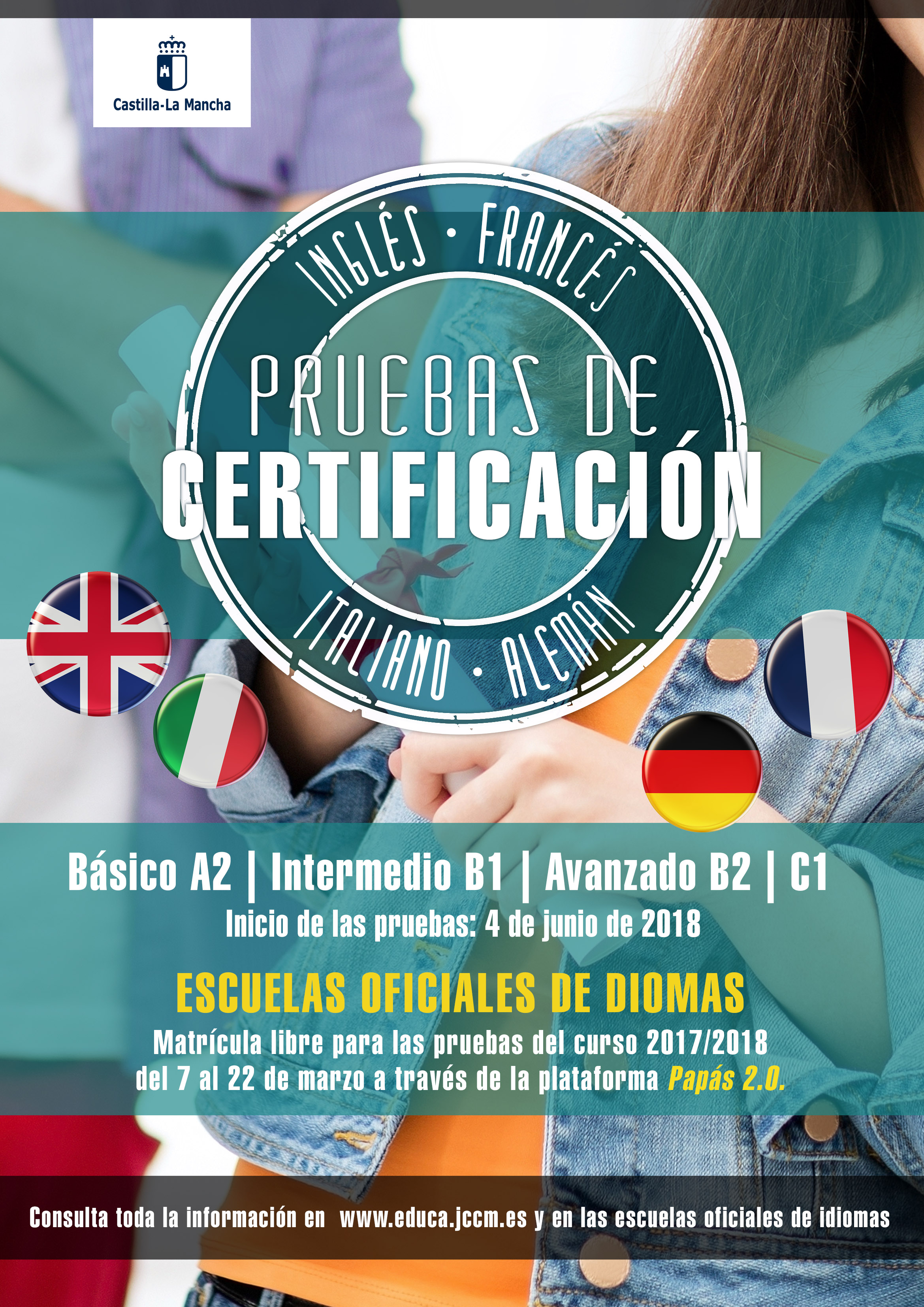 CartelPruebaIdiomas2018 - Pruebas de certificación libres 2017-18