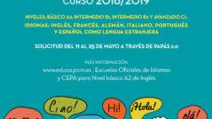 Cartel EOI 2018 239x134 - Solicitud de plaza para el curso 2018-19