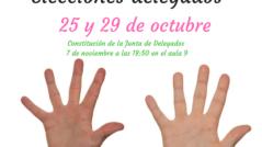 elecciones delegados 239x134 - 25 y 29 de octubre - elecciones a delegado/a de clase