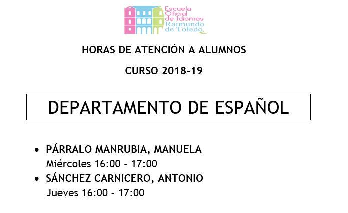 ESPAÑOL - Tutorias de Español