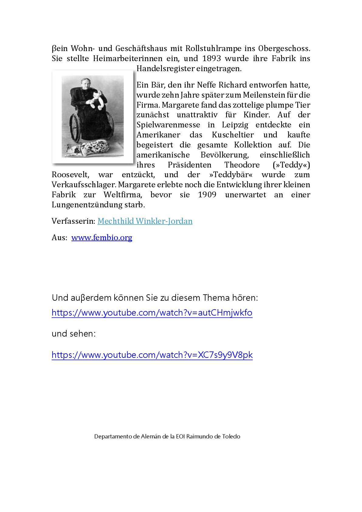 Margarete Steiff 003 - Pionierinnen im Porträt