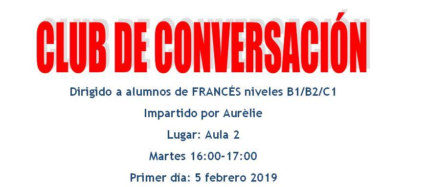 Captura - Taller de conversación francés a partir de febrero