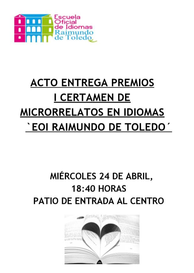 MICRORRELATOS - Ganadores I Concurso de Microrrelatos